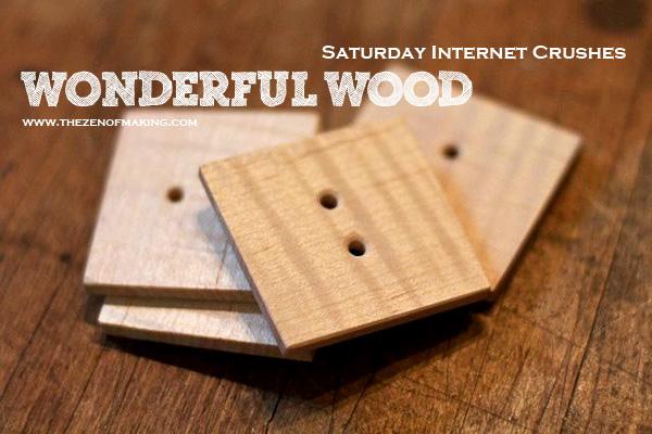 Saturday Internet Crushes: Wonderful Wood | Red-Handled Scissors