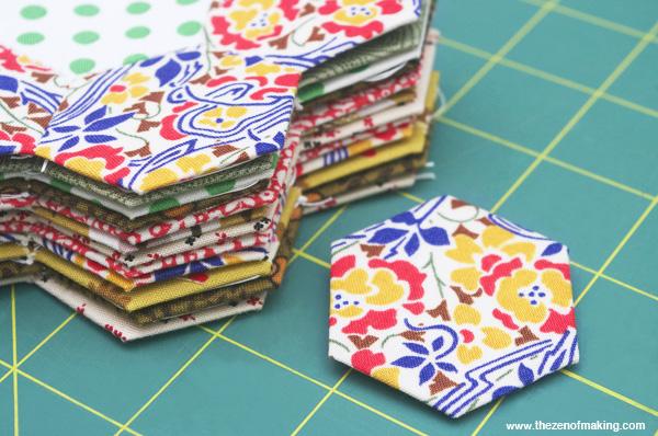 Tutorial: English Paper Piecing, Hexies Part 1 | Red-Handled Scissors