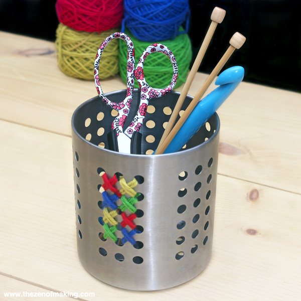 Organize: Cross-Stitch Storage Canisters   Red-Handled Scissors