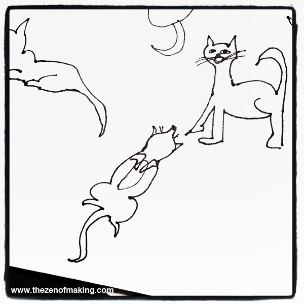 Sunday Snapshot: Drawing Cats in Bed | Red-Handled Scissors