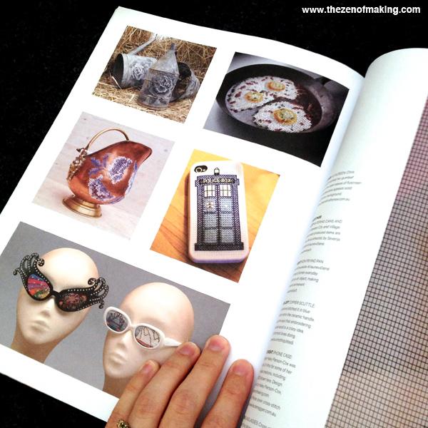 Monday Snapshot: TZoM in Homespun Magazine! | Red-Handled Scissors