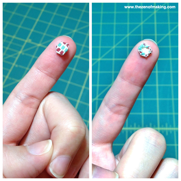 Sunday Snapshot: Sewing Insanely Tiny Hexies | Red-Handled Scissors