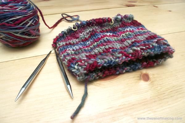 Sunday Snapshot: New Pixie Hat in Progress | Red-Handled Scissors