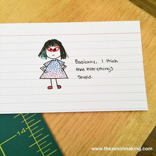 Sunday Snapshot: Tiny Cranky Haley Cartoons | Red-Handled Scissors