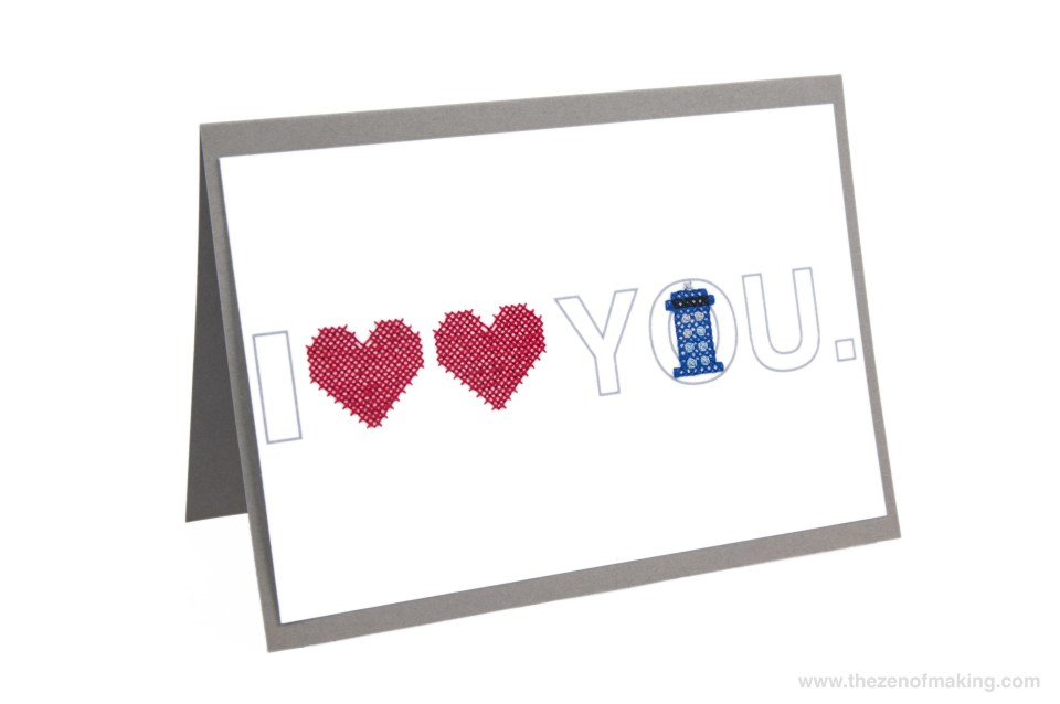 Pattern: Doctor Who-Inspired Time Lord Cross-Stitch Valentine | Red-Handled Scissors