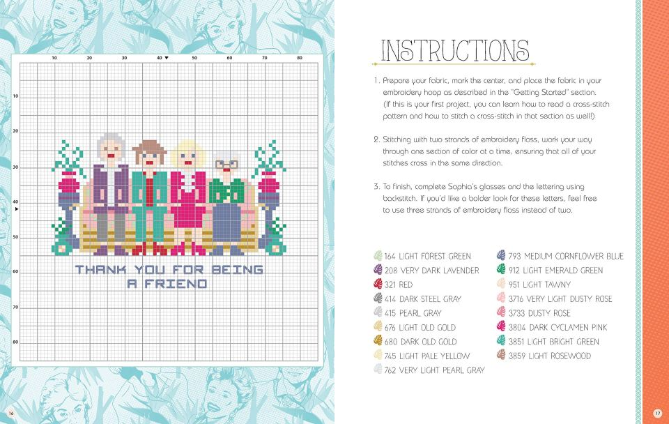 Cross Stitch The Golden Girls Example Page 2