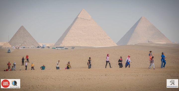 Lari di komplek piramida Giza