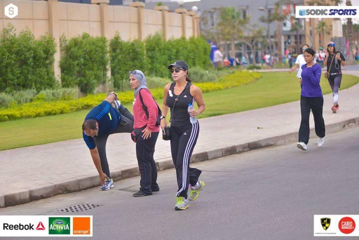 Jogging di Sheikh Zayed City