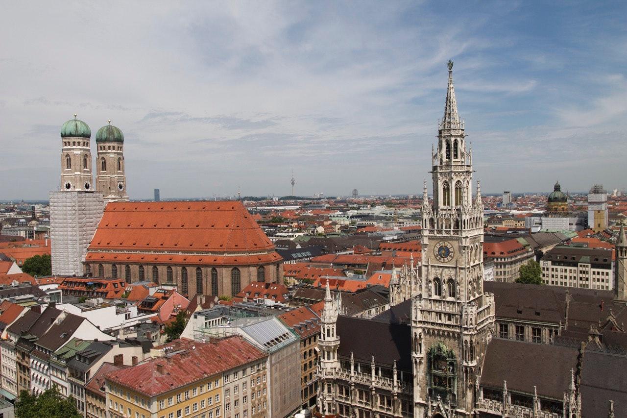 sebuah pemandangan di kota muenchen jerman