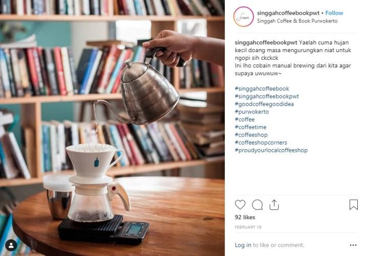 Singgah Coffee Book Purwokerto