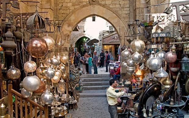 Khan el Khalili Bazaar di Kairo