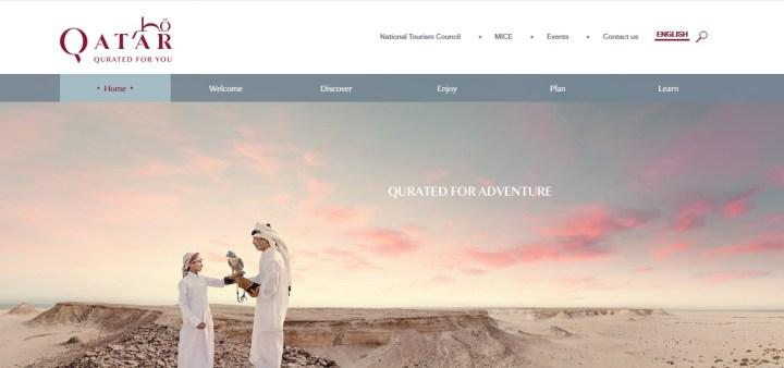 Website VisitQatar.qa