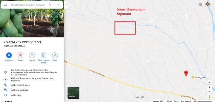 lokasi bendungan jaganala langgongsari cilongok banyumas