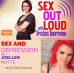 Graphic promoting JoEllen's appearance on Sex Out Loud with Tristan Taormino