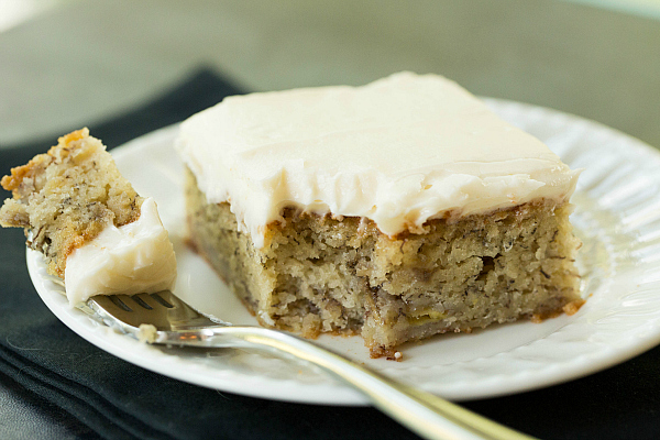 BEST EVER Banana Cake with Banana Icing