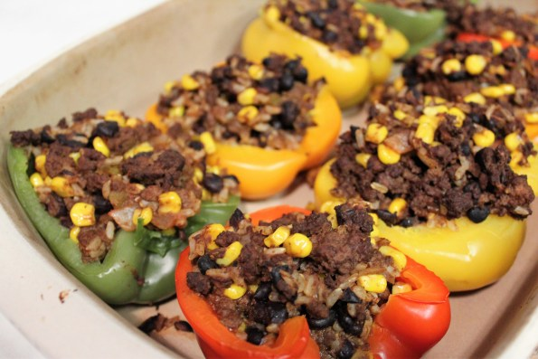stuffed peppers, easy dinner, mexican