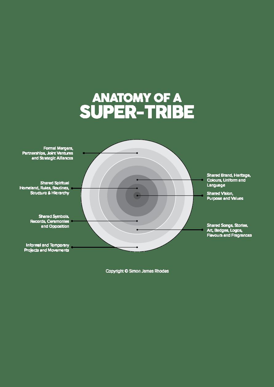 Anatomy of a Super-tribe diagram