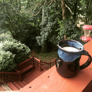 Coffee on the back porch