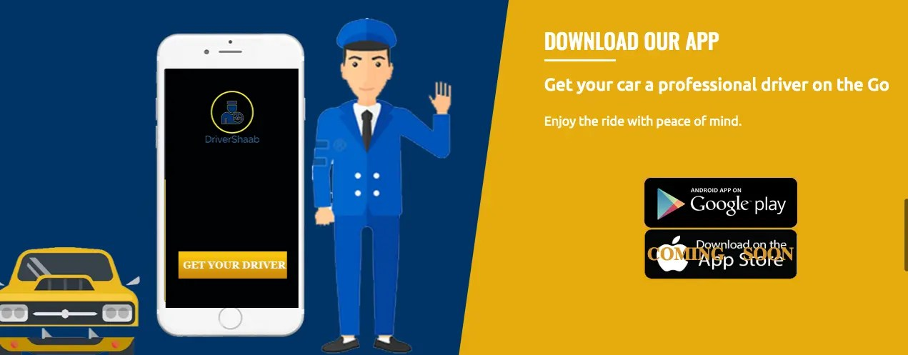 Mobile App for Driver booking startup