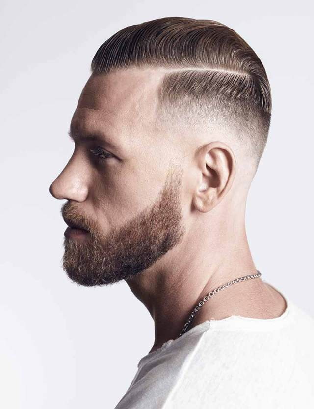 hard part men's hairstyle & comb over fade haircut | redken