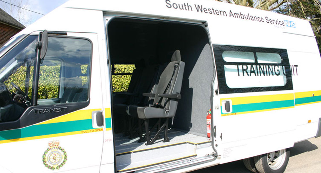 Red Kite Crewtility NHS Training Vehicle