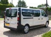 Vauxhall Vivaro 9 Seat Minibus Huge minibus stock Red Klite