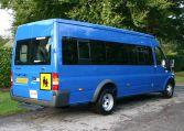 Blue Transit 17 seat minibus