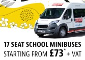 Minibus lease from only £73 + VAT per week