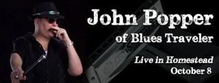 John Popper, the iconic, charismatic lead singer of Blues Traveler at Seminole Theatre