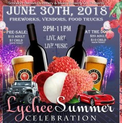 Lychee 2018 Celebration at Schnebly Redlands Winery