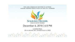 Homestead Mayor's State Of The City Address