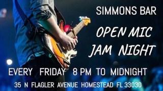 Open Mic Jam Night Fridays at Simmons Bar