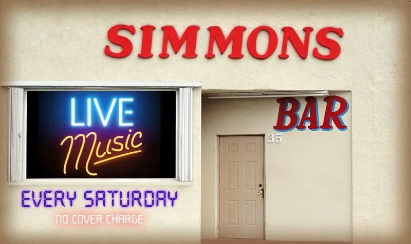 Live Bands On Saturdays at Simmons Bar