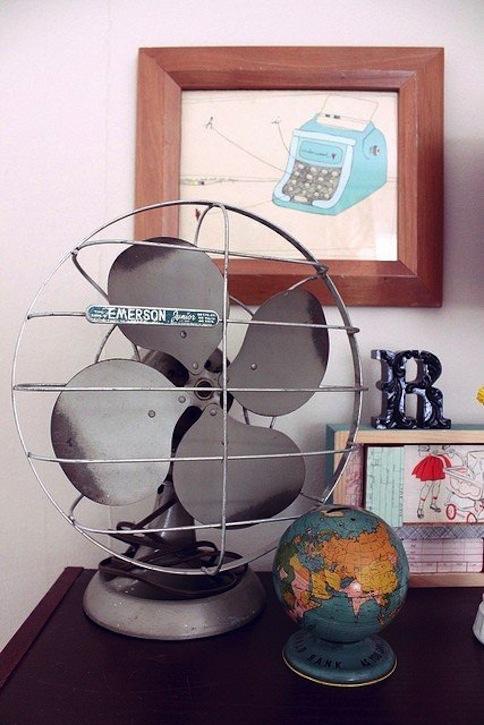 Black vintage fan.