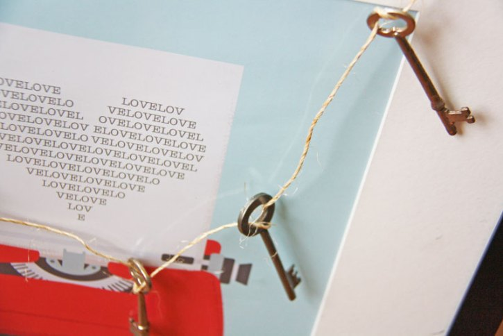 Vintage key garland