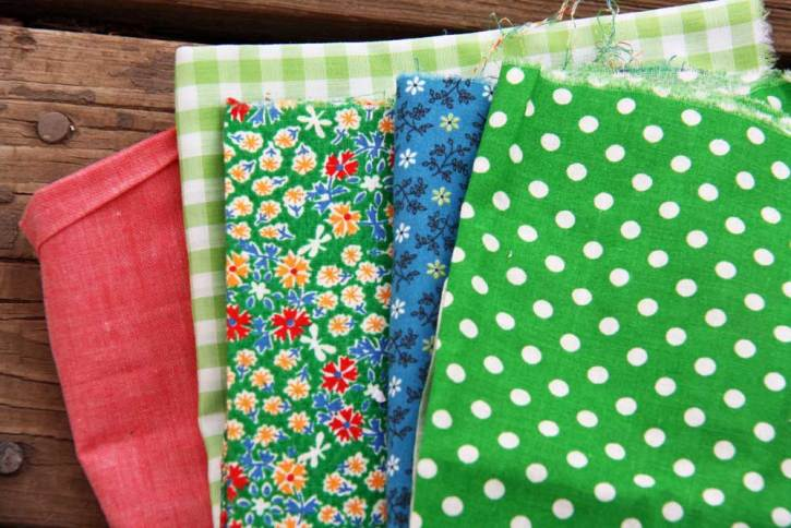 Gingham and polka dot fabric | redleafstyle.com