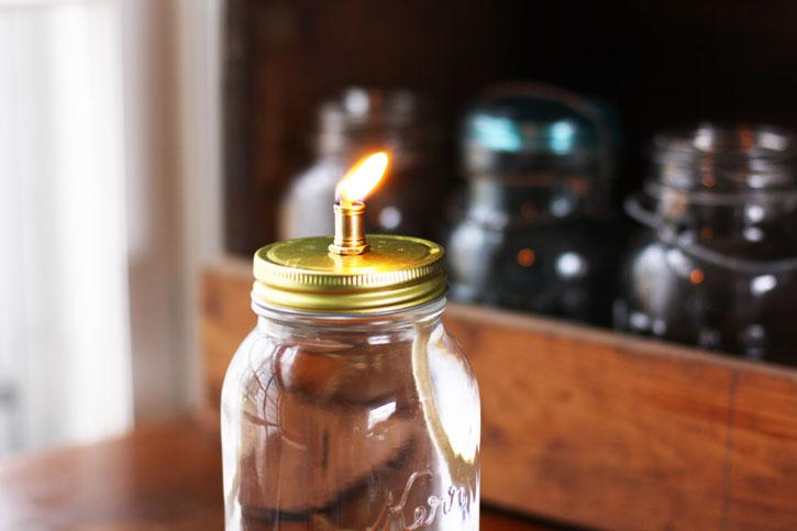 Marvelous Mason Jar Oil Lamp