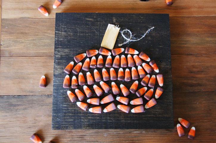 Candy Corn Pumpkin Art | redleafstyle.com