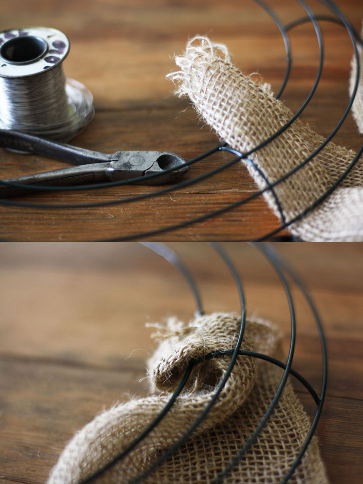 How to Make the Ultimate Fall Burlap Door Wreath | redlefastyle.com