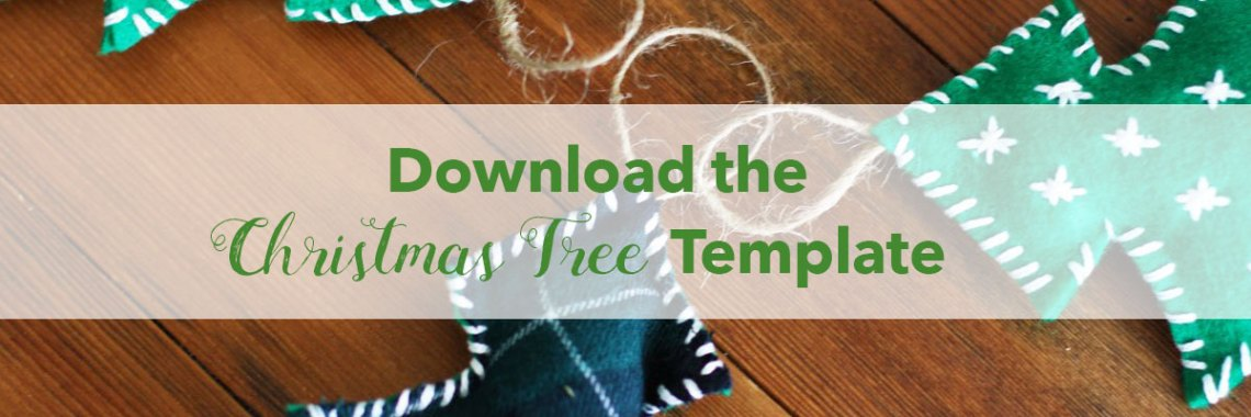 How to Make an Easy Felt Christmas Tree Ornament | redleafstyle.com