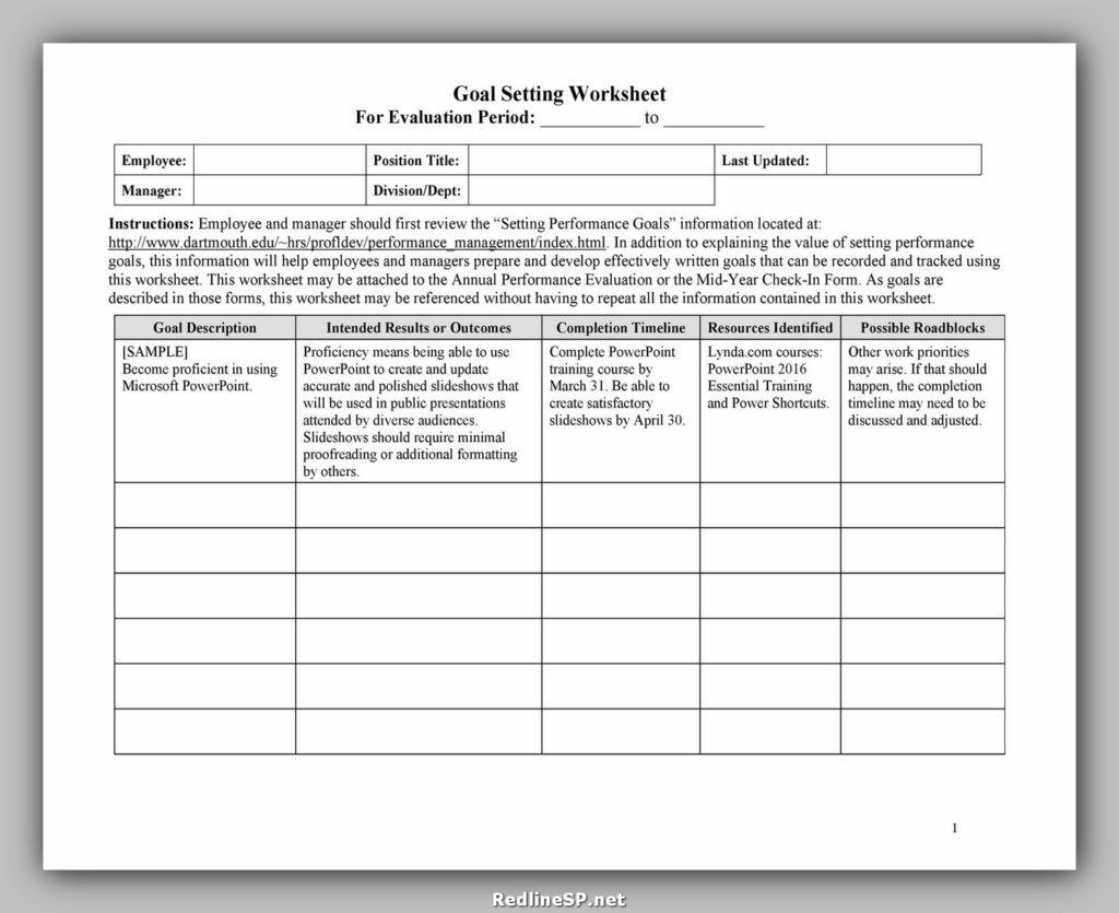 35 Goal Setting Worksheet Free