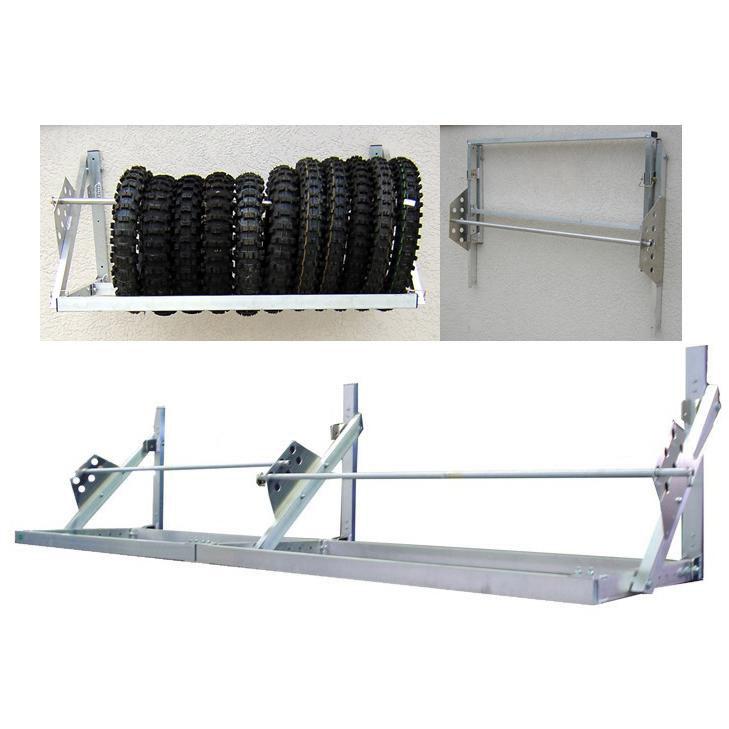 pit posse 4 8 ft universal trailer tire rack