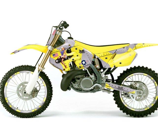 Suzuki Rm 250 Dirt Bike Graphics T Bomber Yellow Mx Graphic Wrap Kit