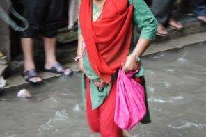 Pluies diluviennes à Katmandou