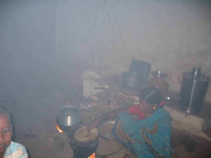 Typical smoke-filled room during cooking