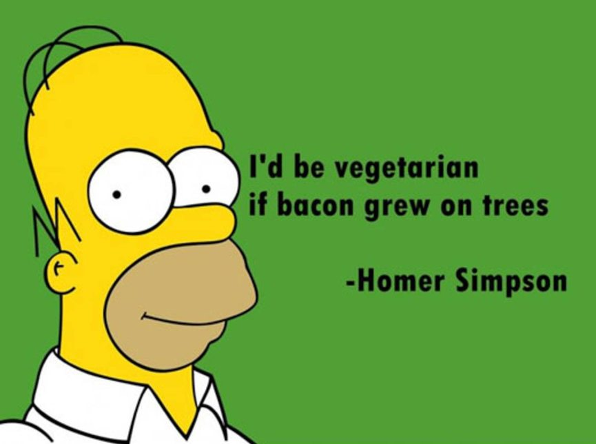 Homer Simpson bacon quote