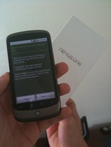 Nexus One Unboxing