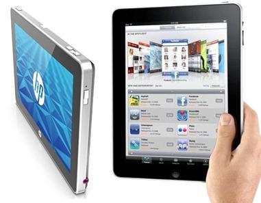 HP Slate and iPad
