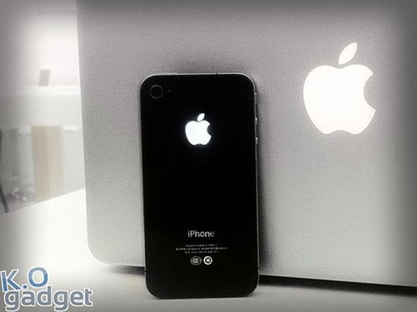 Glowing Apple logo mod for iPhone
