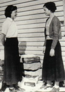 Diddie and Mother in their teens